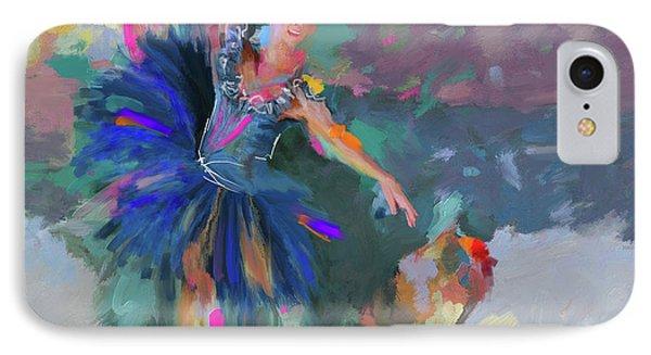 Dancer 281 1 IPhone Case by Mawra Tahreem