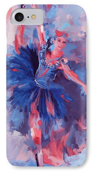 Dancer 281 3 IPhone Case by Mawra Tahreem