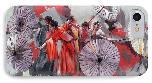 Dancer 282 2 IPhone Case by Mawra Tahreem