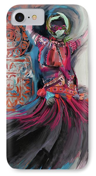 Dancers 265 3 IPhone Case by Mawra Tahreem