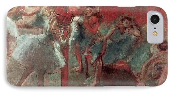 Dancers At Rehearsal IPhone Case by Edgar Degas
