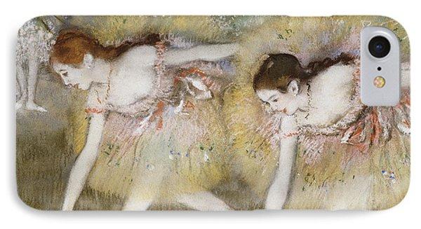 Dancers Bending Down IPhone Case by Edgar Degas
