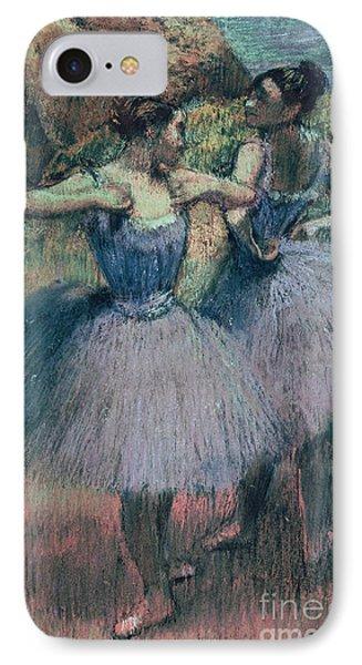 Dancers In Violet  IPhone Case by Edgar Degas