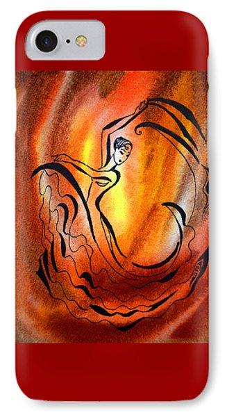 Dancing Fire I IPhone Case by Irina Sztukowski