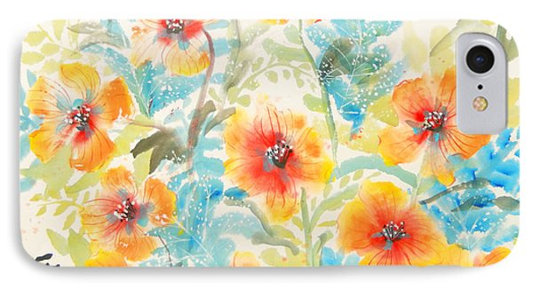 Dancing Flowers IPhone Case by Sharon Nelson-Bianco