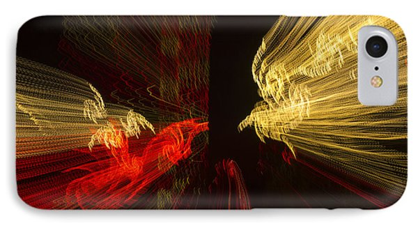 Dancing Lights 2 - Up Against A Barrier IPhone Case by Penny Lisowski
