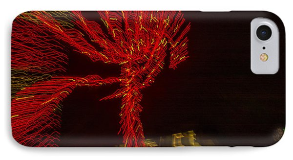 Dancing Lights 6 - Palm Tree IPhone Case by Penny Lisowski