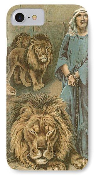 Daniel In The Lions Den Phone Case by John Lawson