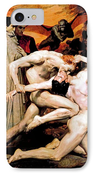 Dante And Virgil In Hell IPhone Case by Jennifer Rondinelli Reilly - Fine Art Photography