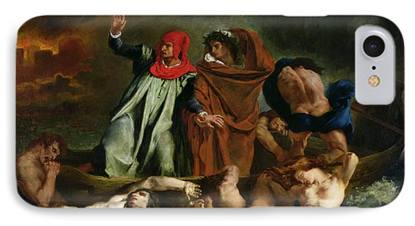 Dante And Virgil In The Underworld IPhone Case by Ferdinand Victor Eugene Delacroix