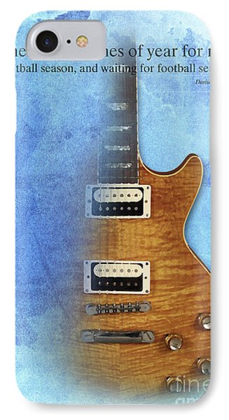Darius Rucker Inspirational Quote, Electric Guitar Poster For Music Lovers And Musicians IPhone 7 Case by Pablo Franchi