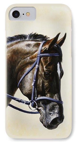 Dark Bay Dressage Horse Phone Case IPhone Case by Crista Forest