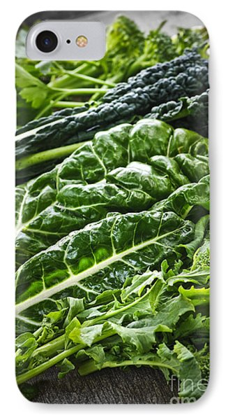 Dark Green Leafy Vegetables IPhone Case by Elena Elisseeva