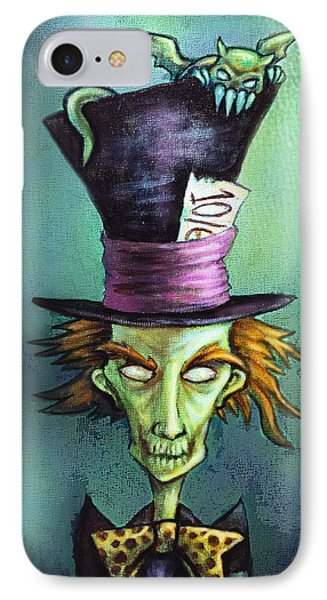 Dark Mad Hatter IPhone Case by Diana Levin