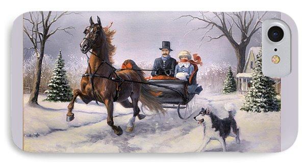 Dashing Through The Snow  II IPhone Case by Jeanne Newton Schoborg