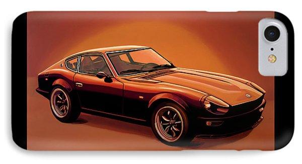 Datsun 240z 1970 Painting IPhone Case by Paul Meijering