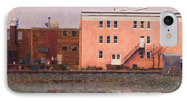 Dave Matthews Pink Warehouse IPhone Case by Edward Thomas