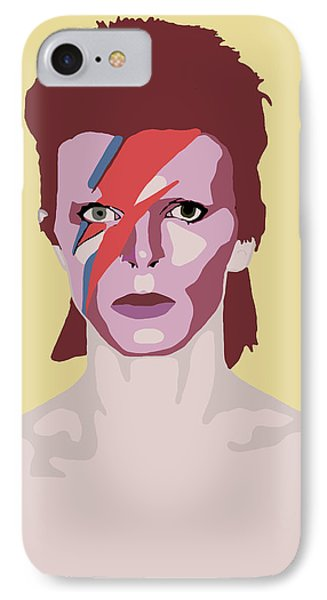 David Bowie IPhone Case by Nicole Wilson