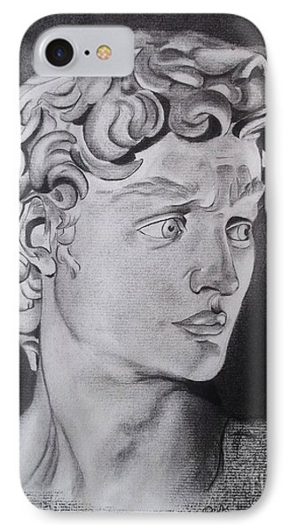 David In Pencil IPhone Case by Lise PICHE