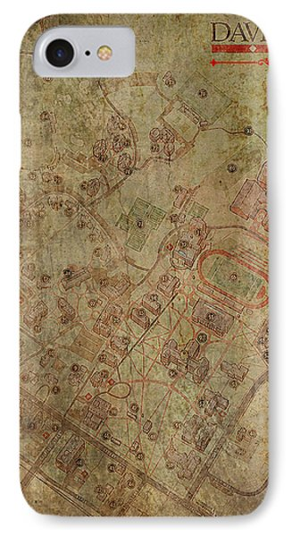 Davidson College Map IPhone Case by Paulette B Wright