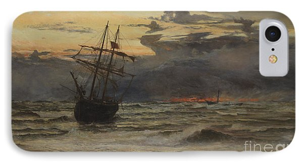 Dawn After The Storm IPhone Case by William Lionel Wyllie