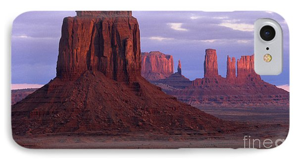 Dawn At Monument Valley Phone Case by Sandra Bronstein