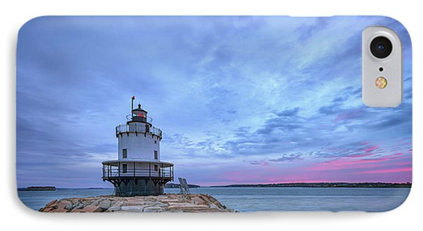 Dawn At Spring Point Ledge Lighthouse IPhone Case by Rick Berk