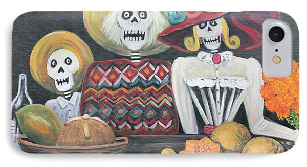 Day Of The Dead Family Phone Case by Sonia Flores Ruiz