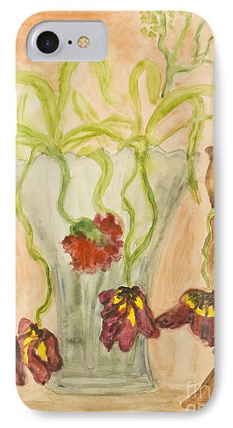 Dead Tulips, Painting IPhone Case by Irina  Afonskaya