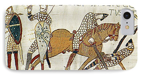 Death Of Harold, Bayeux Tapestry IPhone Case by Photo Researchers