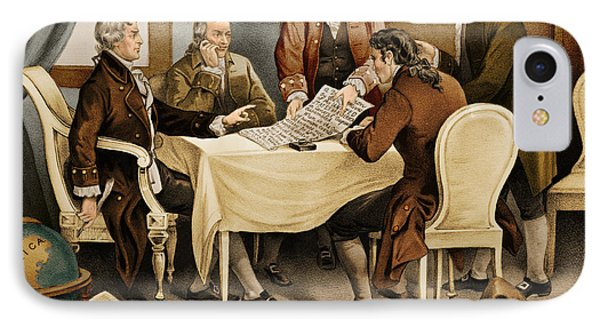 Declaration Committee 1776 IPhone Case by Photo Researchers