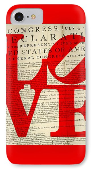 Declaration Of Independence Love IPhone Case by Brandi Fitzgerald