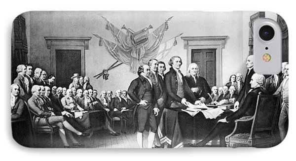 Declaration Of Independence IPhone Case by Photo Researchers, Inc.