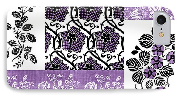 Deco Flower Patchwork 3 Phone Case by JQ Licensing