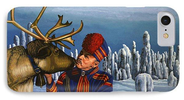 Deer Friends Of Finland IPhone Case by Paul Meijering