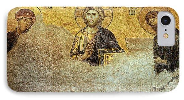 Deesis Mosaic Hagia Sophia-christ Pantocrator-judgement Day Phone Case by Urft Valley Art