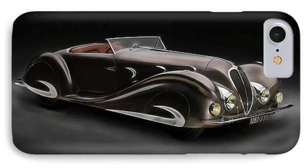 Delahaye 1930's Art In Motion IPhone Case by Marvin Blaine