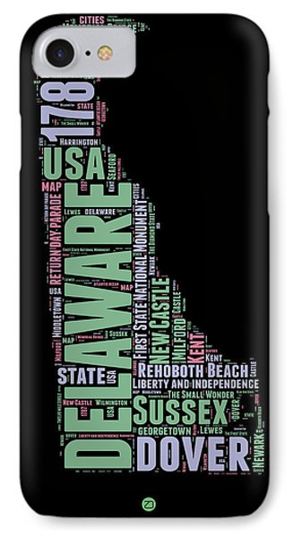 Delaware Word Cloud 1 IPhone Case by Naxart Studio