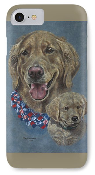 Della Then And Now IPhone Case by Debbie Stonebraker