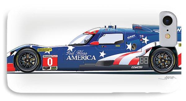 Deltawing Le Mans Racer Illustration IPhone Case by Alain Jamar