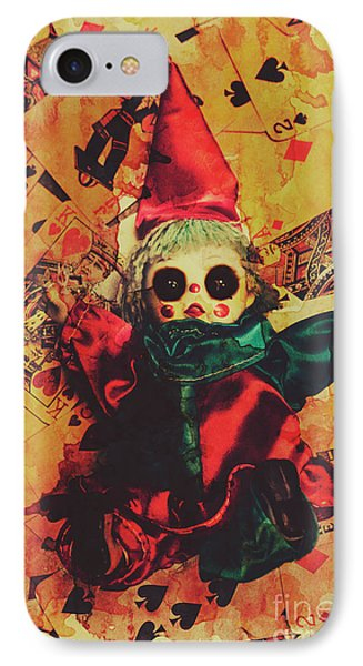Demonic Possessed Joker Doll IPhone Case by Jorgo Photography - Wall Art Gallery