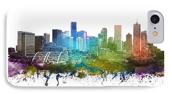 Denver Cityscape 01 IPhone Case by Aged Pixel