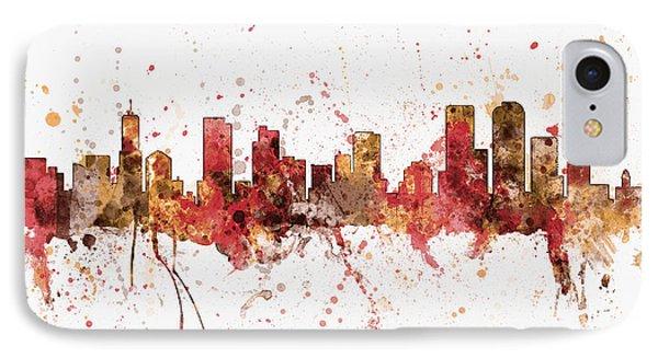 Denver Colorado Skyline Cityscape IPhone Case by Michael Tompsett