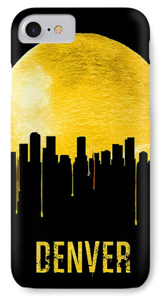 Denver Skyline Yellow IPhone Case by Naxart Studio