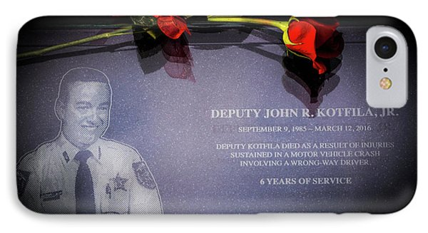 Deputy Kotfila IPhone Case by Marvin Spates