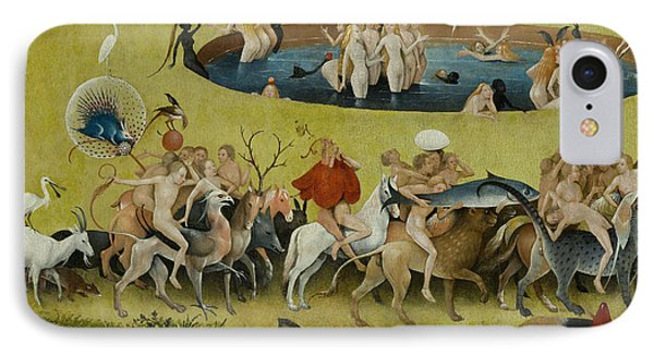 Detail From The Central Panel Of The Garden Of Earthly Delights IPhone Case by Hieronymus Bosch