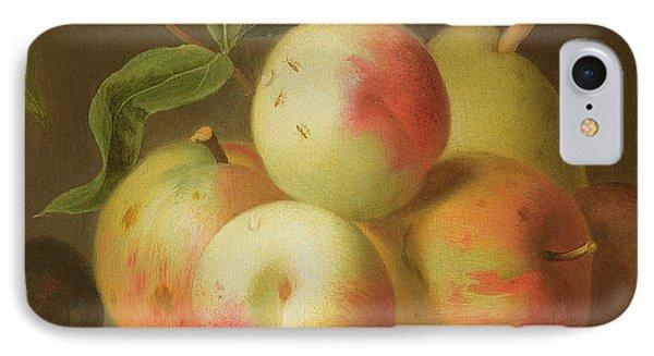 Detail Of Apples On A Shelf IPhone Case by Jakob Bogdany