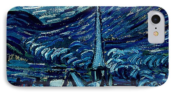 Detail Of The Starry Night IPhone Case by Vincent Van Gogh