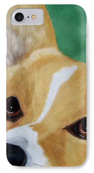 Devotion-corgi Eyes Of Love Phone Case by Debbie LaFrance