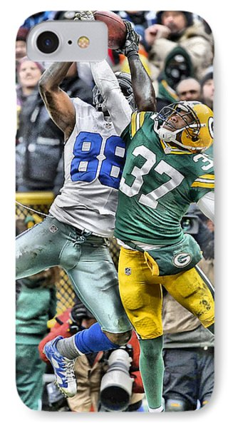 Dez Bryant Cowboys Art 4 IPhone Case by Joe Hamilton